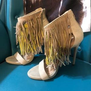 Also fringed heels